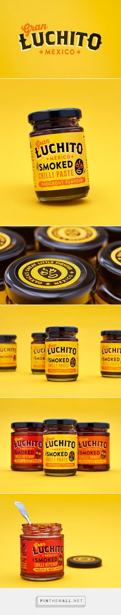 Gran Luchito salsa package design