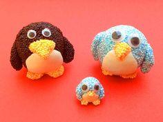 Wolkenschleim - Foam Clay - Figuren und Schmuck basteln - Pinguin-Familie