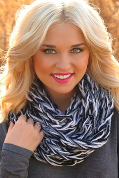 Cool & Collective Scarf: Black/White #shophopes