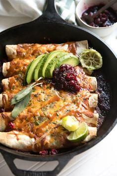 Thanksgiving Leftover Enchiladas via @theforkedspoon #leftovers #enchiladas #turkey #holidayleftovers #easyrecipe #cheese Enchiladas, Food Dishes, Main Dishes, Green Enchilada Sauce, Thanksgiving Leftovers, Turkey Sandwiches, Leftover Turkey, Cooking Together, Fresh Herbs