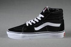 6653a7499d Vans Sk8-Hi Classic Black True White Womens Shoes  Vans