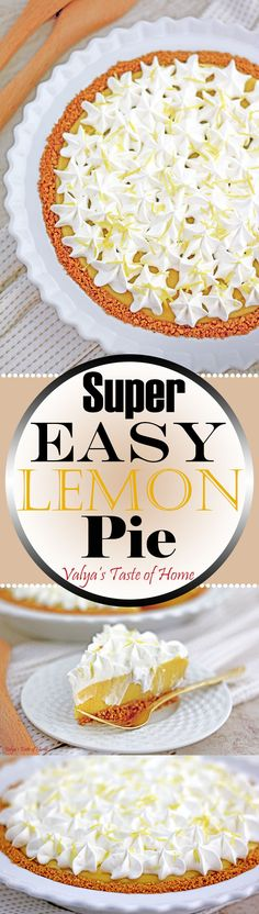 Cold, smooth and sweet with a lemon kick and loads of flavor. This will make a perfect Thanksgiving pie. Or at least one of them if you love others as well. It's ridiculously easy to make! You don't even need a mixer. And the good thing is that you can do this in advance.