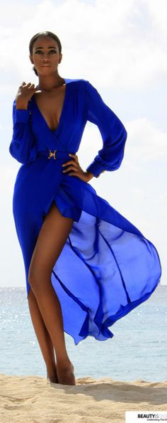 Style: Gorgeous blue looks stunning beachfront: Charles Corvsky Dieujuste Spring 2013 Campaign