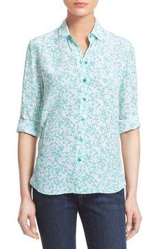 EQUIPMENT 'Leema' Floral Print Silk Shirt. #equipment #cloth #