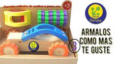 Autos y Camiones Madera Y Goma Eva Para Armar Y Combinar  laranarenata.com.ar