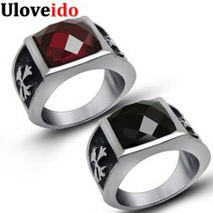 Find More Rings Information about Uloveido Stainless Steel Fashion Rings for Women Men's Big Ring Zircon Red Black Crystal Jewelry Wedding jewellery Gifts SA565,High Quality jewellery hanger,China jewellery coral Suppliers, Cheap jewellery drawer from D&C Fashion Jewelry Buy to Get a Free Gift on Aliexpress.com