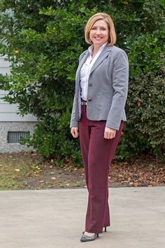 Savvy Southern Chic: Another take on burgundy and grey