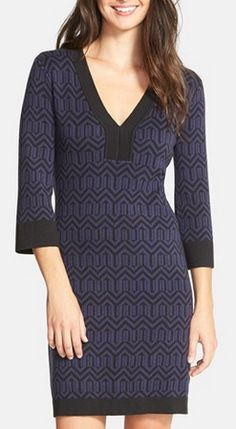 Laundry by Shelli Segal - Stretch sweater dress - 40% off http://rstyle.me/n/vbhcvnyg6