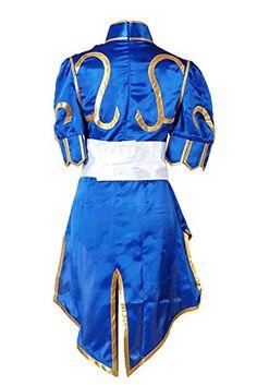 Street Fighter Chun Li ChunLi Blue Dress Halloween Costume new standard size