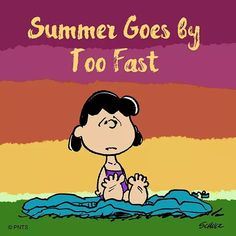 Why does Summer always go by so fast? Charlie Brown Christmas, Charlie Brown And Snoopy, Peanuts Cartoon, Peanuts Snoopy, Peanuts Comics, Cute Quotes, Funny Quotes, Lucy Van Pelt, Peanuts Characters