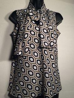 Black Label Women's Blouse Shirt Medium EUC #BlackLabel #Blouse #Everyday