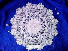 Pattern Lace Doily Vintage Crochet Round Doily Row by Row Lace Doilies, Crochet Doilies, Crochet Lace, Round Table Centerpieces, Table Decorations, Row By Row, Thick Yarn, Crochet Round, Bridal Shower Gifts