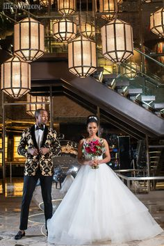 Over the Top Fuchsia Wedding Inspiration | ElegantWedding.ca Tall Gold Vases, Field Wedding, Outdoor Wedding Photography, Toronto Wedding, Blush And Gold, Bridal Lingerie, Wedding Couples, Dress Collection, Bridal Hair