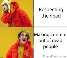 Has Logan Paul ran out of content ideas like PewDiePie? Memes funny dankmeme Logan Paul meme lol humor picture