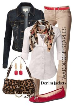 Wardrobe Staples by jennifernoriega on Polyvore featuring polyvore, fashion, style, LE3NO, Victoria's Secret, Tod's, Dolce&Gabbana, Chico's, Burberry, Fashion Focus, clothing, denimjackets and WardrobeStaples