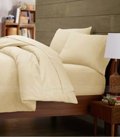 Ivory Double Egyptian Cotton Quilt Duvet Cover + Sheet Choice - 1000TC Double Duvet Covers, Single Duvet Cover, King Duvet, Queen Duvet, Egyptian Cotton Bedding, White Duvet, Quilt Cover Sets, Cotton Quilts, Bed Pillows