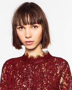 ZARA - TRF - EMBROIDERED LACE T-SHIRT