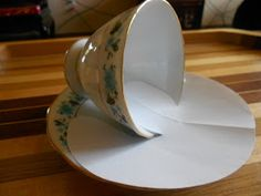 First of all you need to find a teacup and saucer. The size of the teacup depends on your project and what scene actually you would like to...