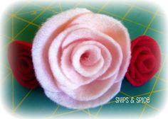 Snips & Spice: Felt Roses