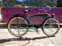 1941 Good Year Colson Clipper Old Bicycle, Cruiser Bicycle, Bicycle Pedals, Old Bikes, Custom Harleys, Custom Bikes, Antique Bicycles, Altered Images, Mode Of Transport