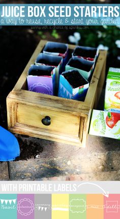 Sunny with a Chance of Sprinkles: A 'Monster' Craft: Juice Box Seed Starters