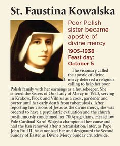 The first Sunday after Easter is Divine Mercy Sunday. This is dedicated to St. Faustina and Blessed Pope John Paul II. Catholic Beliefs, Catholic Quotes, Catholic Saints, Religious Quotes, Roman Catholic, Christianity, Catholic Prayer For Healing, Prayers For Healing, Catholic Prayers