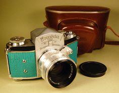 Ihagee Exakta VX camera plus Biotar lens, case with Custom lizard skin... Splendid. $411.00, via Etsy.