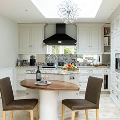 White and walnut kitchen-diner | Kitchen design ideas | Beautiful Kitchens | Housetohome.co.uk