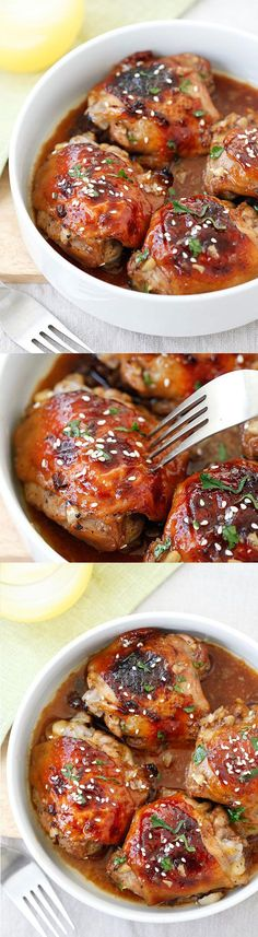 Baked Honey Soy Chicken #baked #chicken #healthy