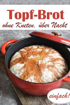 Without kneading, overnight. Pot of bread without kneading, let rise overnight, on … - Trailers Camping, Medicinal Herbs, Veggie Dishes, Greek Recipes, Food Items, Biscuits, A Food, Tasty, Stuffed Peppers