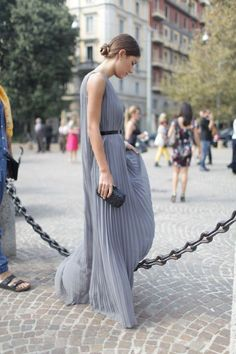 stunning dress. #DilettaBonaiuti in Paris.