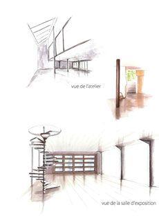 Perspective d 39 une cuisine ouverte philippe ponceblanc for Decoratrice d interieur formation