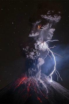 """tulipnight: """" Colima Volcano in Mexico by Sergio Tapiro Velasco """""""