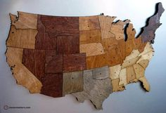 WOOD DESIGN NEWS || Featured on Apartment Therapy || #wood #design #wallmap