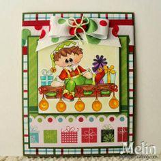 Day 12 Elf on Shelf Christmas Card. http://www.mypapercrafting.com/2013/12/day12-2013-elfcard.html