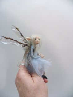 ooak pose-able tiny PIXIE FAIRY (52) art doll by DinkyDarlings