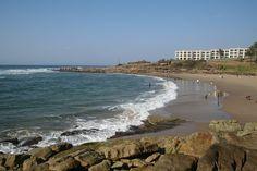 Uvongo's main beach - great spot for sun worshippers.