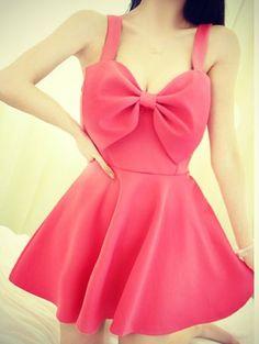 Bow dress...gotta be longer!