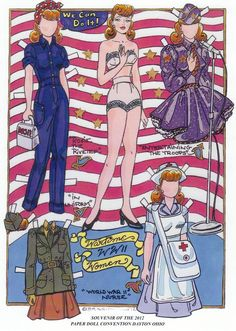 Image result for nurse paper dolls from the early 20th century