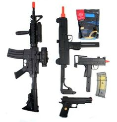 Airsoft Gun Bundle: M16 AEG RIS, UZI, M1911, M11A1, and GoldenBall BBs by AirSoft. $96.95. Airsoft Megastore's Signature Packages, created FOR PLAYERS BY PLAYERS, combine high-quality Airsoft guns with the necessary essentials that EVERY Airsoft player needs to get started playing the sport of Airsoft, and in the process deliver the best value on the market for Airsoft products. Check out our complete line of Signature Packages that take the Airsoft shopping experience to the ...