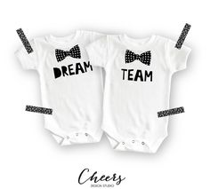 Funny Onesies® - Cute Onesies® - Twin Onesies - Dream Team Onesies - Baby Boy - Baby Girl - Baby Onesies - Baby Clothing - Gift for Baby by CheersDesignStudio on Etsy https://www.etsy.com/listing/386159486/funny-onesies-cute-onesies-twin-onesies