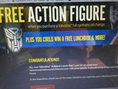 """Winner of a Valvoline Autobot lunchbox in the Valvoline """"Transformers: The Last Knight """" Instant Win Game #freestuff #freebies #samples #free"""