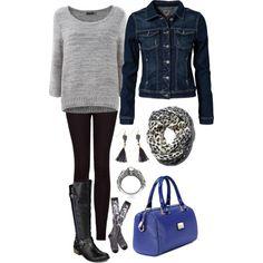 I'm blue. #sweater #falloutfit