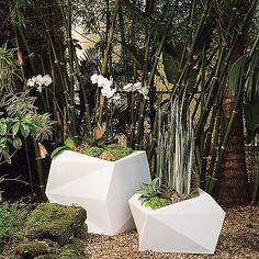 Home garden Planters - Origami Planter, 26 , White At West Elm Planters & Terrariums Tall Planters, Modern Planters, Outdoor Planters, Garden Planters, Indoor Outdoor, Planter Pots, Outdoor Decor, Garden Bed, Indoor Garden