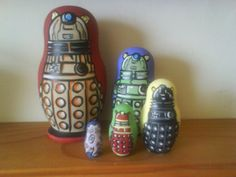 Dalek Nesting Dolls, I love the littlest one!