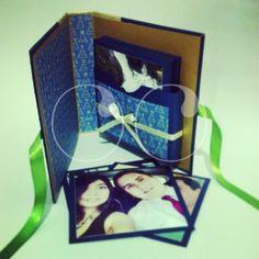 Álbum tipo diario... Un regalo muy especial en el que pueden guardar sus mejores momentos.!!