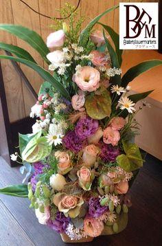 花ギフトのプレゼント【BFM】 高さをだして個性的に そんなフラワーアレンジメント