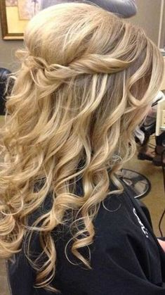 Half Up Prom Hairstyles for Hong Hair