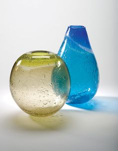 Ombre Primavera vase Art Glass Vase created by Tracy Glover on Artful Home