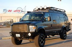 Backcountry Fly Fishing will cruise in some of these bad boys some day! Ford 4x4, Jeep 4x4, Ford E250, 4x4 Trucks, Ford Trucks, Lifted Van, Lifted Jeeps, Lifted Ford, Classic Trucks